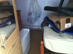 My room the day after - note the high water mark.