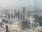 From the top of the Burj Khalifa. They don't do themselves any favours by letting people see their dusty shithole from above.