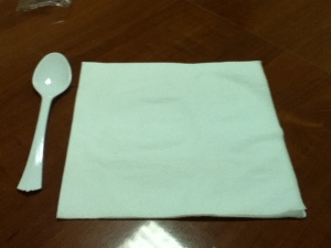 Now, that's a napkin!